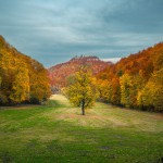 Herbstlaub Bad Urach, Baden-Württemberg