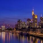 Frankfurt Skyline in twilight