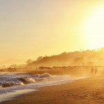Sonnenuntergang Strand, Andalusien